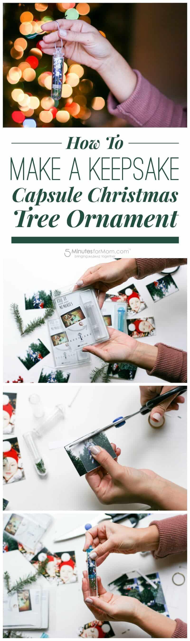 How To Make a Keepsake Capsule Christmas Tree Ornament