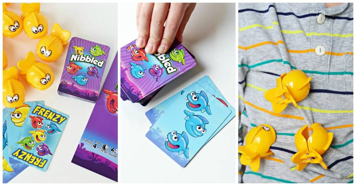 Playing The Nibbled Card Game For Kids