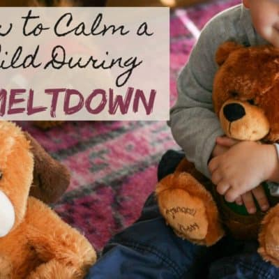 4 Tips For Calming Your Child During A Meltdown