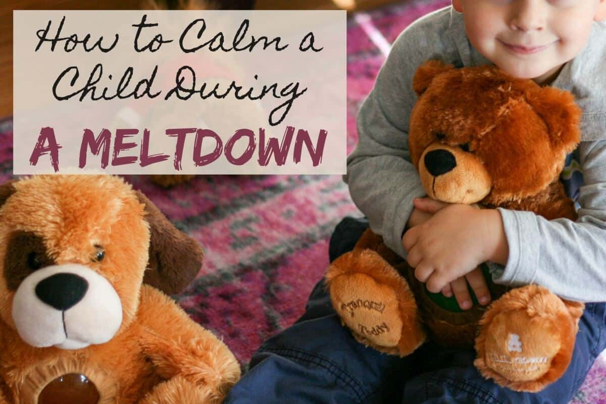 Tips for calming a child during a meltdown