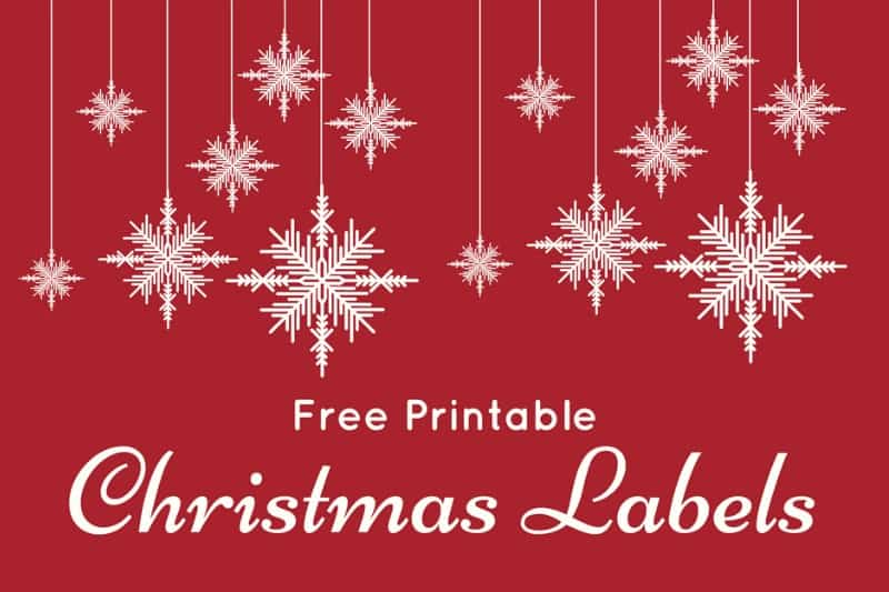 fun and colorful christmas labels free printables