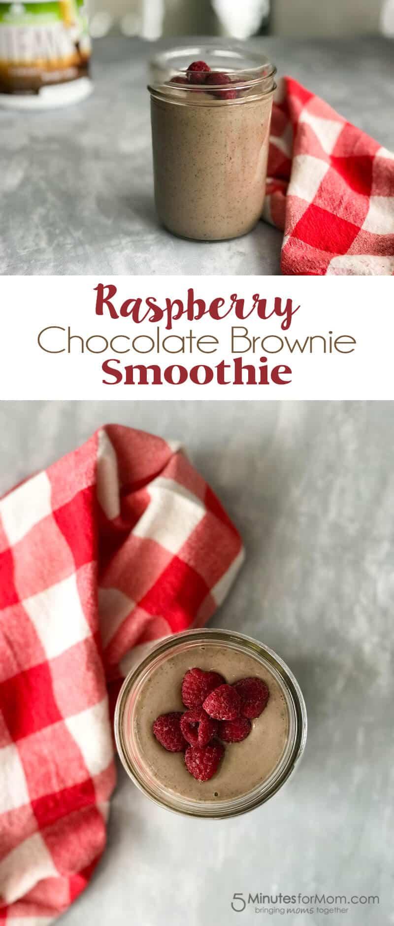 Raspberry Chocolate Brownie Smoothie