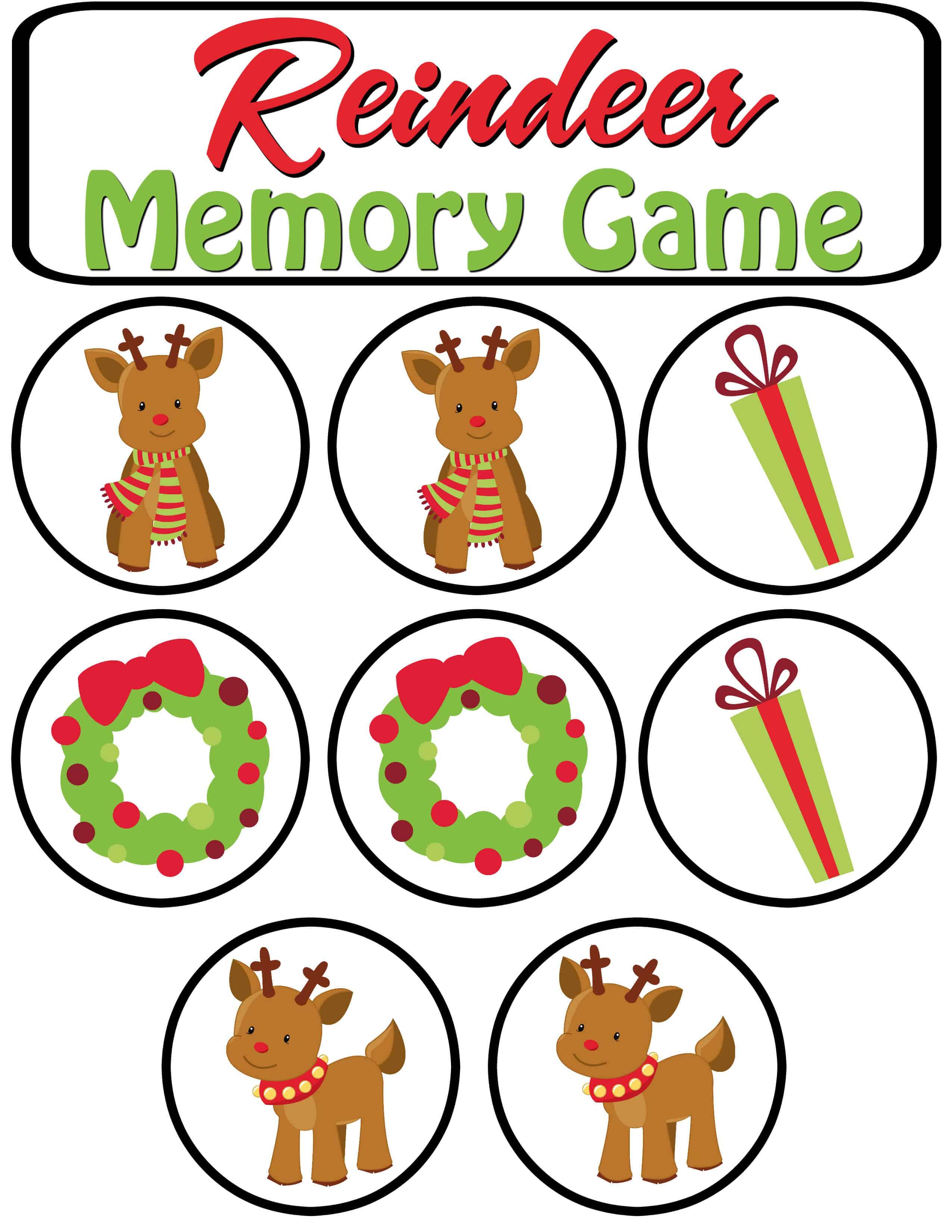 Reindeer Memory Game