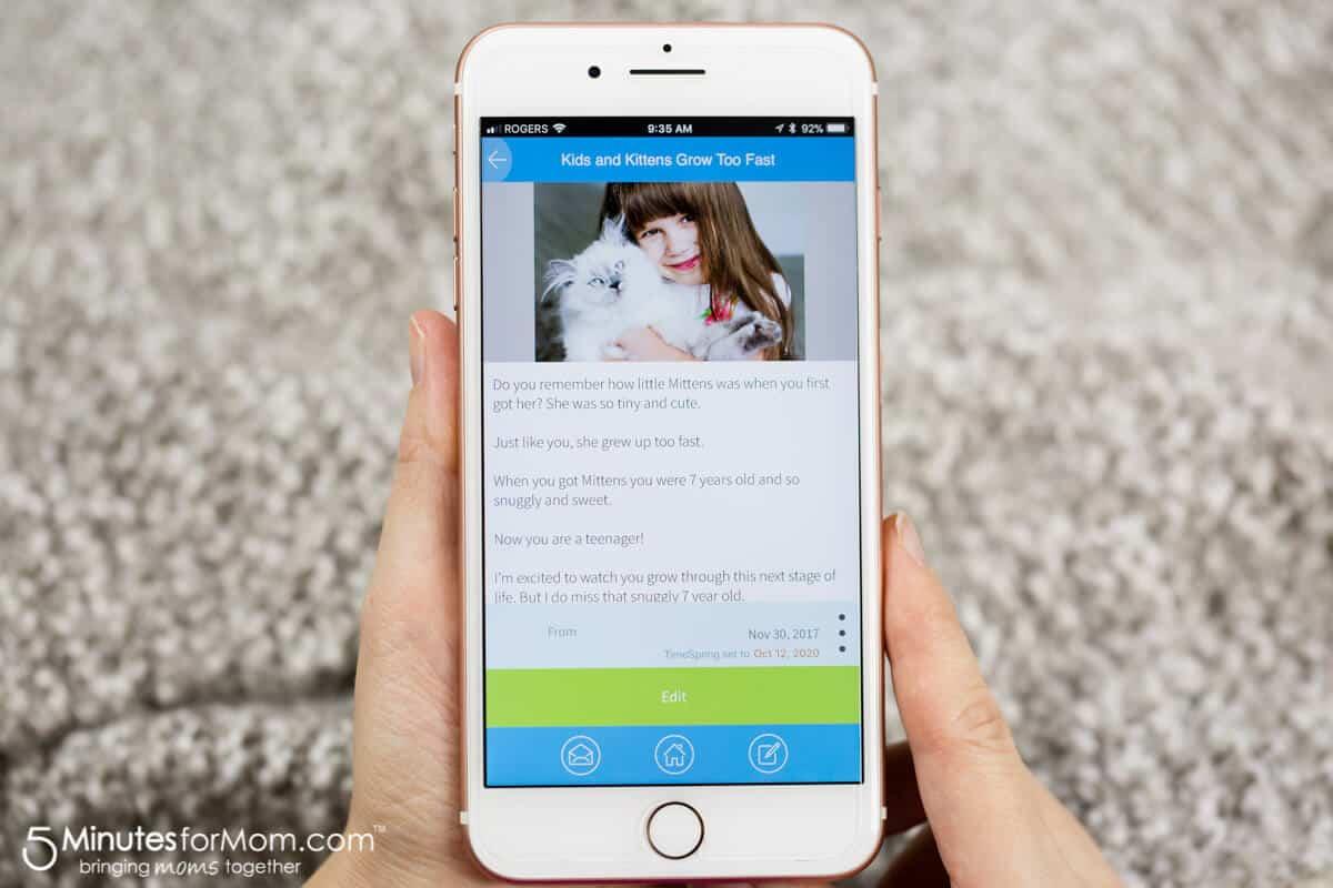 TimeSpring App - Sending a Message