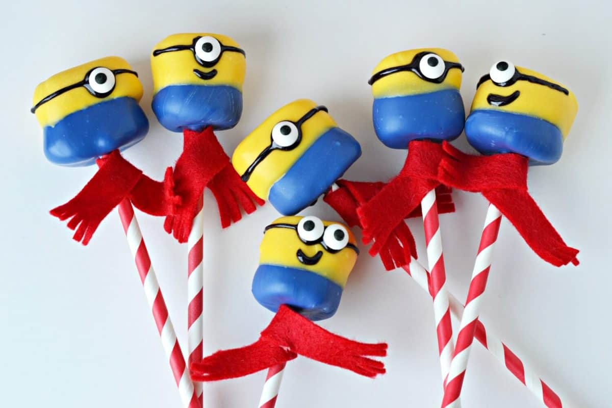 Minion Marshmallow Pops for Despicable Me 3