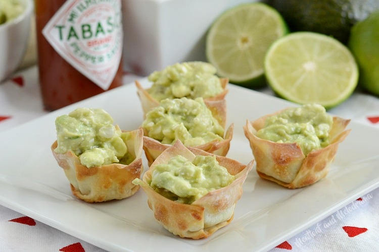 Avocado Dip Wonton Cups from Meatloaf and Melodrama