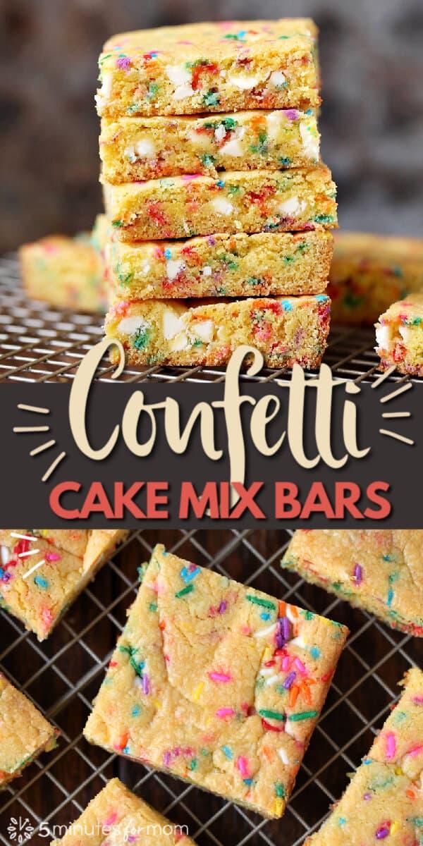 Confetti Bars - Cake Mix Cookie Bars