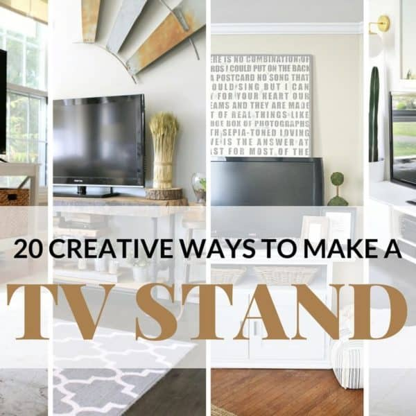 20 Creative Ways To Make A TV Stand