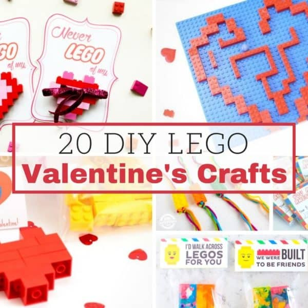 DIY LEGO Valentines Day Cards and Crafts
