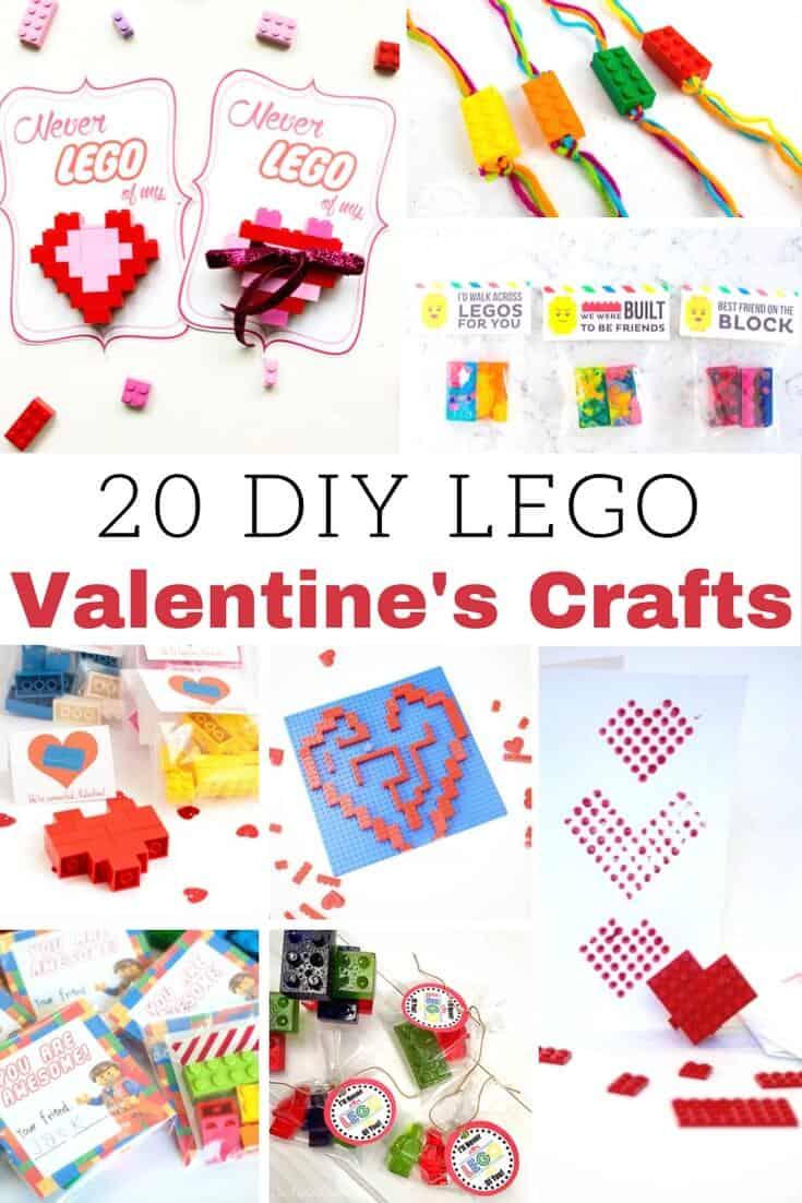 DIY LEGO Valentines Crafts