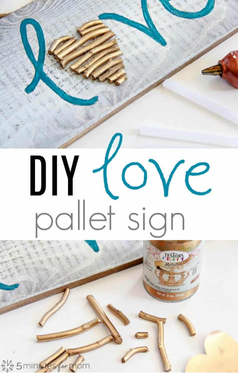 DIY painted love pallet sign