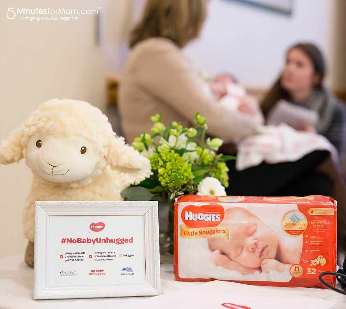 No Baby Unhugged NICU newborn program with Huggies