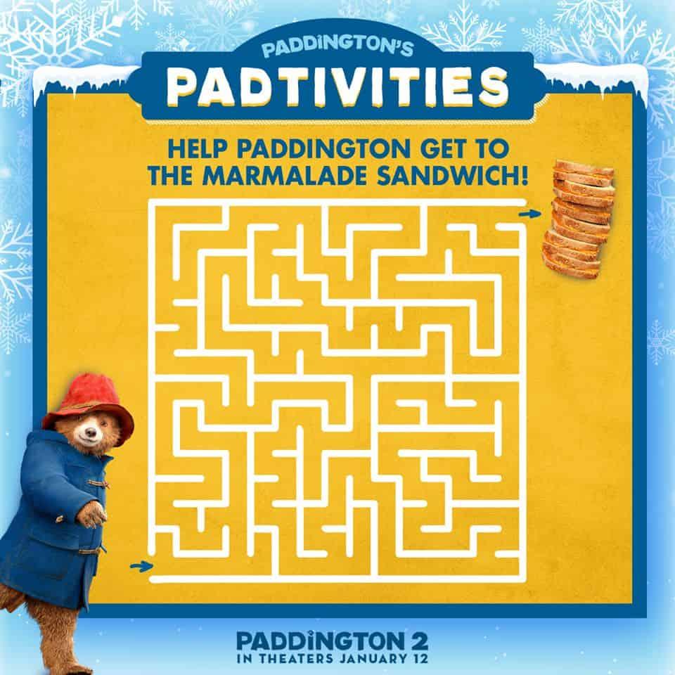 Paddington Activities - Free Printable