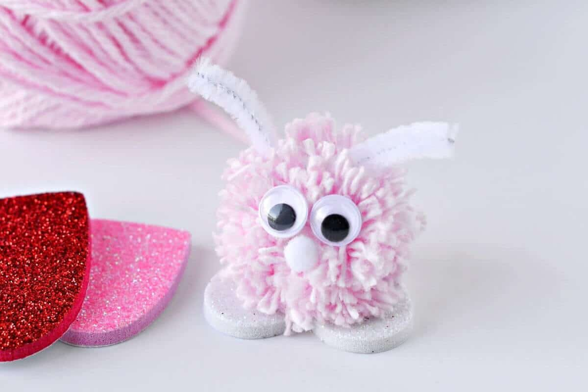 Pom Pom Love Bugs Valentines Day Craft