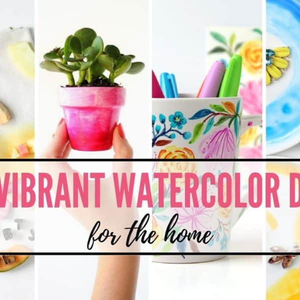 20 Vibrant Watercolor DIYs For Your Home