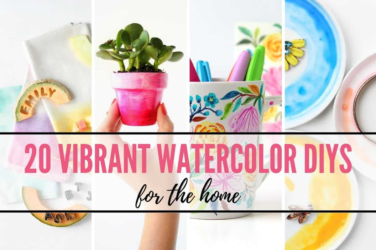 Watercolor DIY Projects for the Home