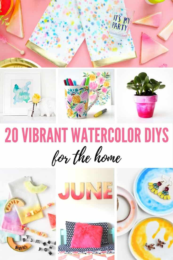 Watercolor DIYs for the Home