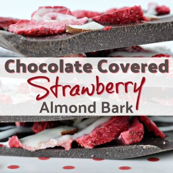 Chocolate Almond Bark With Strawberries