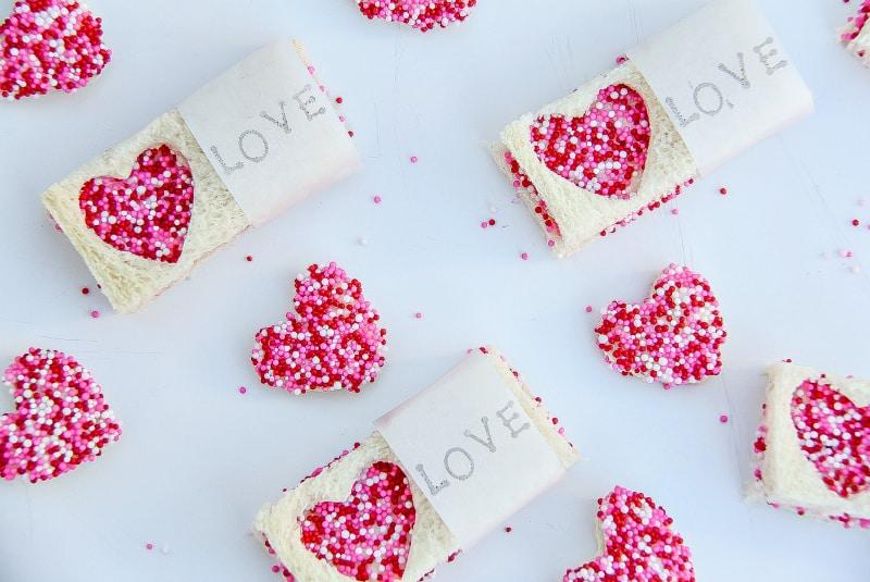 Valentine's Day Fairy Bread Treats