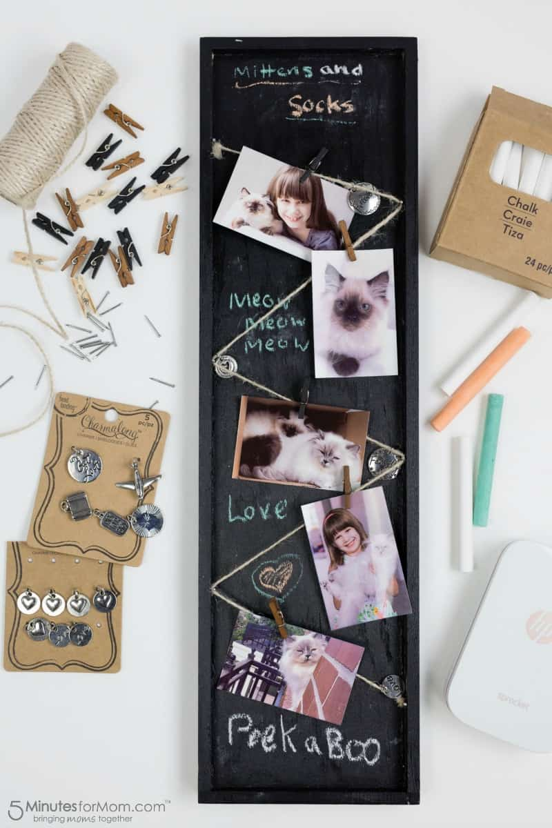 DIY Chalkboard Paint Photo Frame - 5 Minutes for Mom