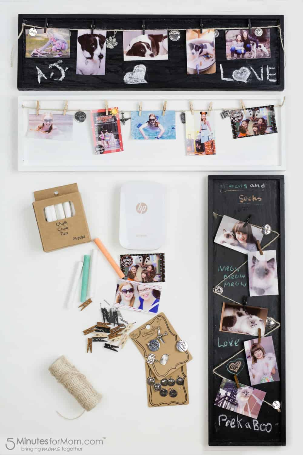 DIY Collage Photo Frames - Photo Craft Ideas