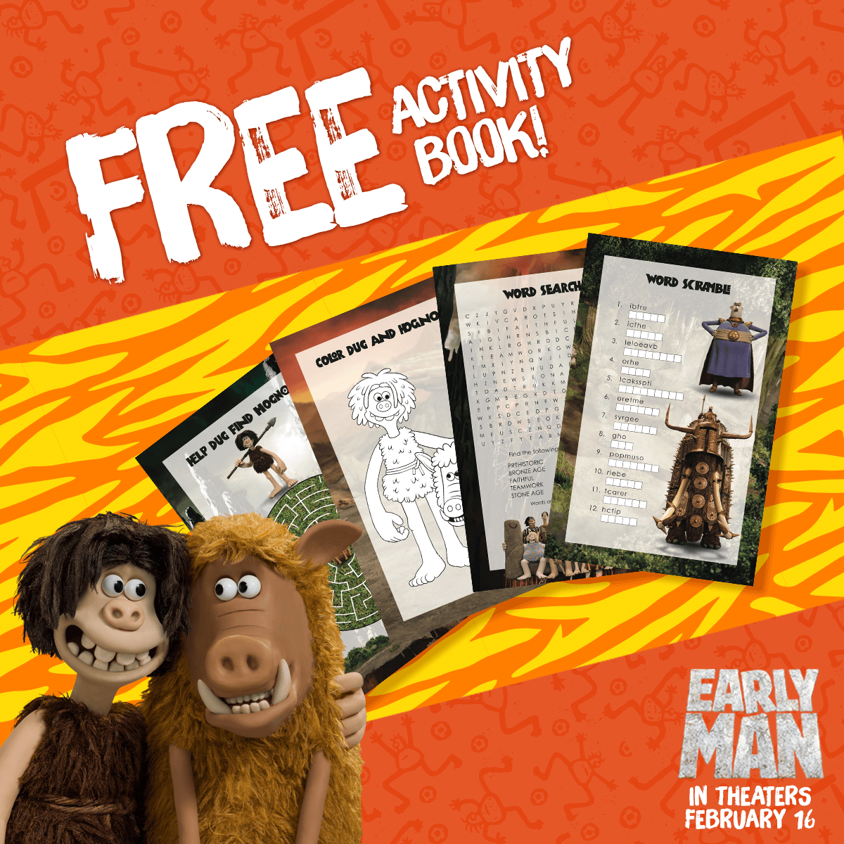 Early Man Activity Booklet