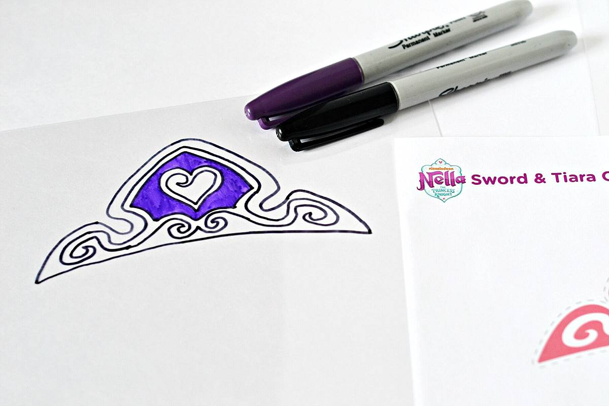 coloring the shrinky charm