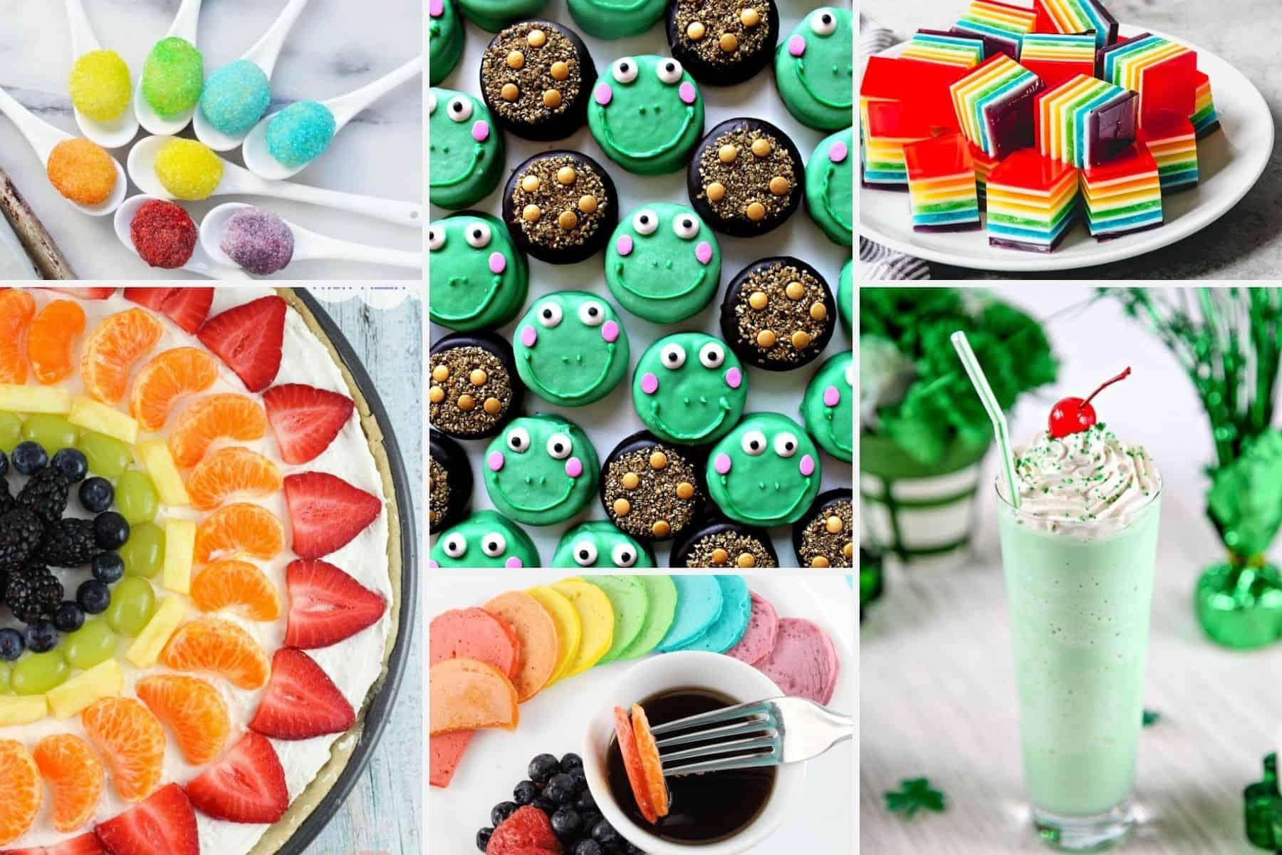 Cute rainbow and green treats