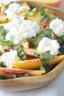 Peach Basil Salad