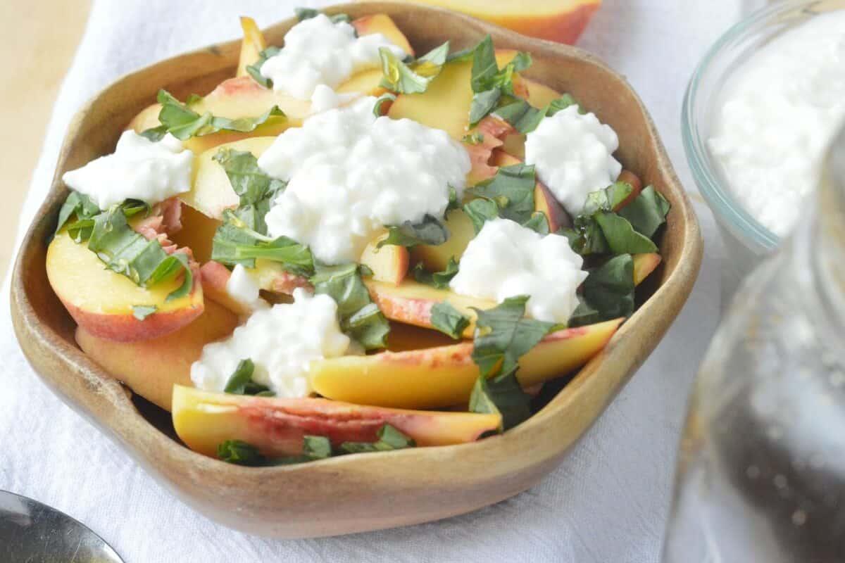 Peach Basil Salad Recipe