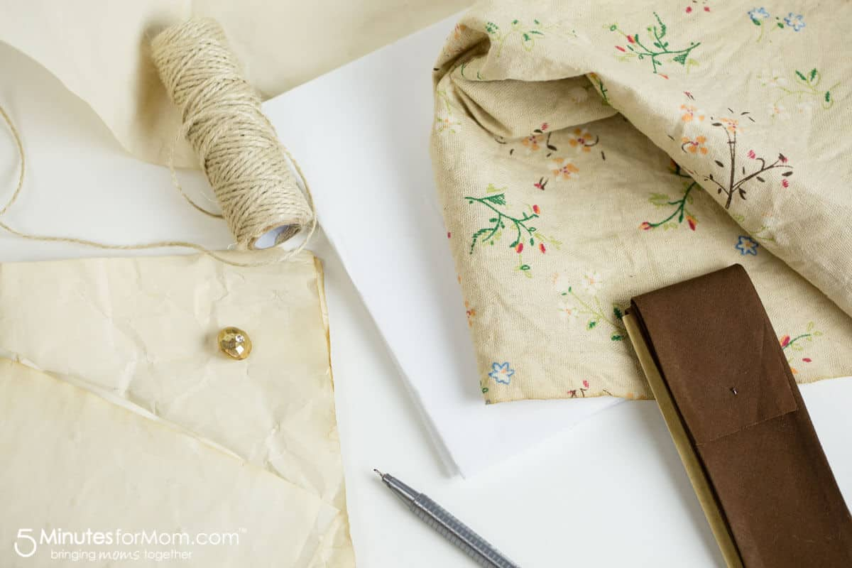 How to make a fabric diy journal