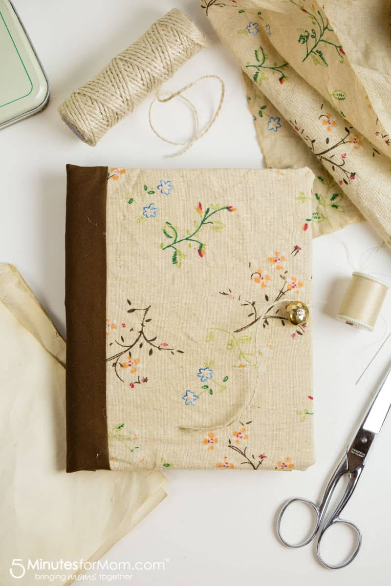 DIY journal with tea stained paper