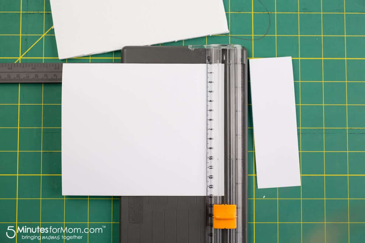 Cutting the paper to make your DIY journal