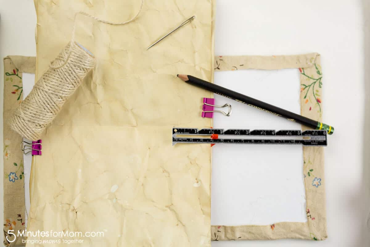 How to make a handmade tea stained journal