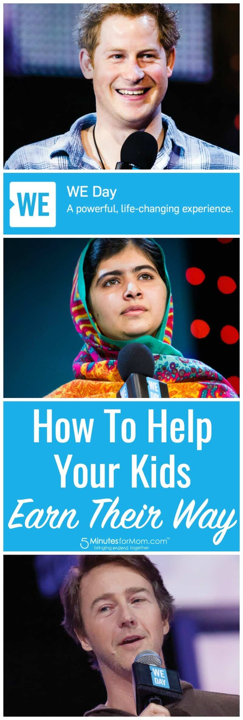 WE Day - How To Help Your Kids Earn Their Way