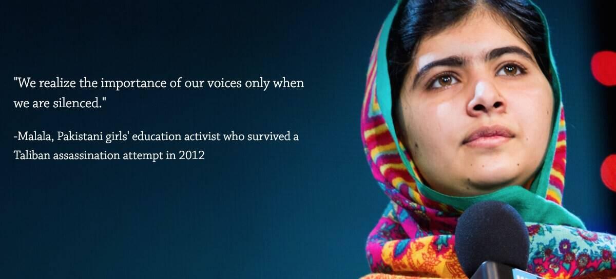WE Day Malala