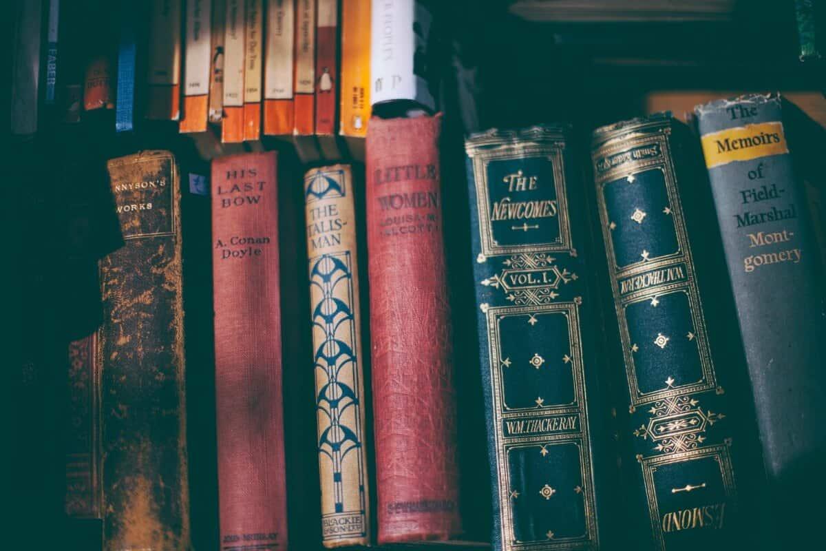 stacks of classic books