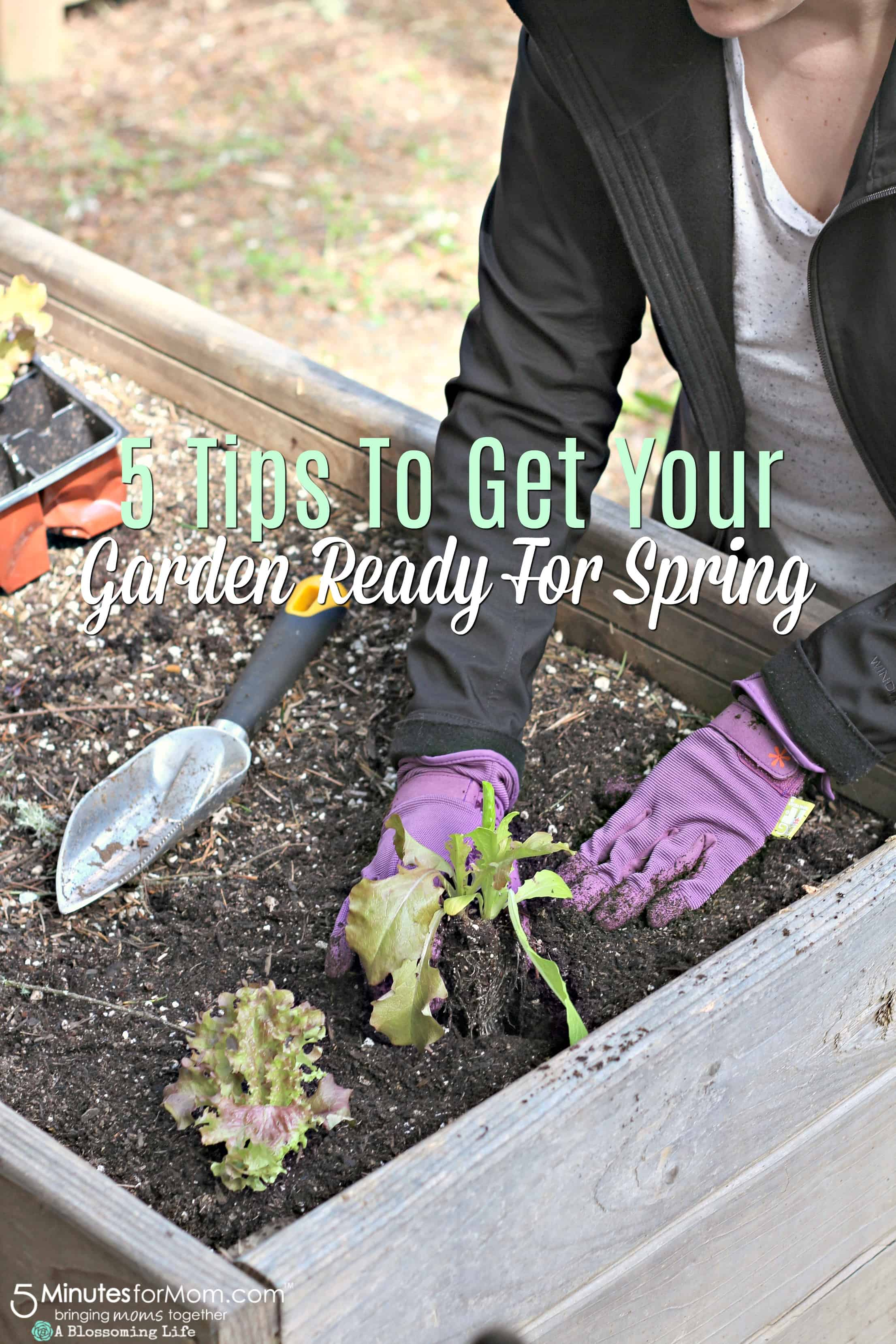 Spring Gardening Tips - 5 Ways To Get Your Garden Ready For Spring