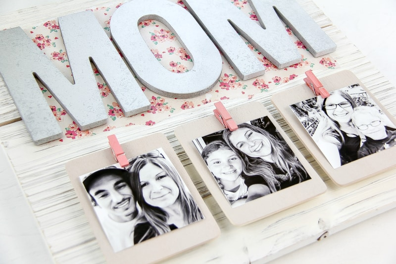 Creative Mother 39 S Day Gift Diy Pallet Picture Frame