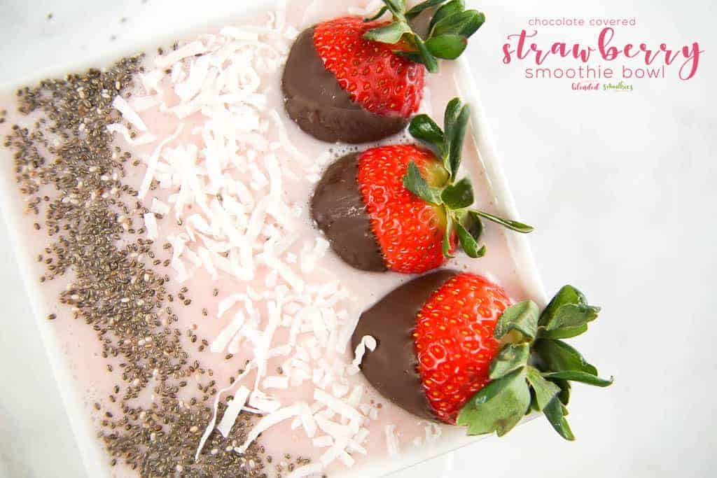 Chocolate Covered Strawberry Smoothie Bowl from Simply Blended Smoothies