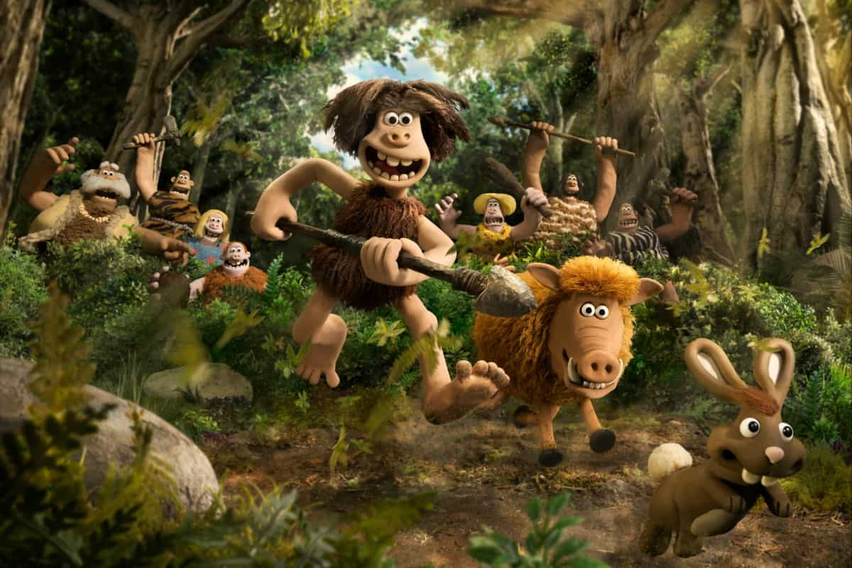 Dug and Hognob in EARLY MAN Photo courtesy of Aardman