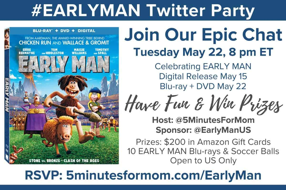 EARLY MAN Twitter Party Invitation
