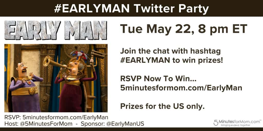 EARLY MAN Twitter Party Reminder