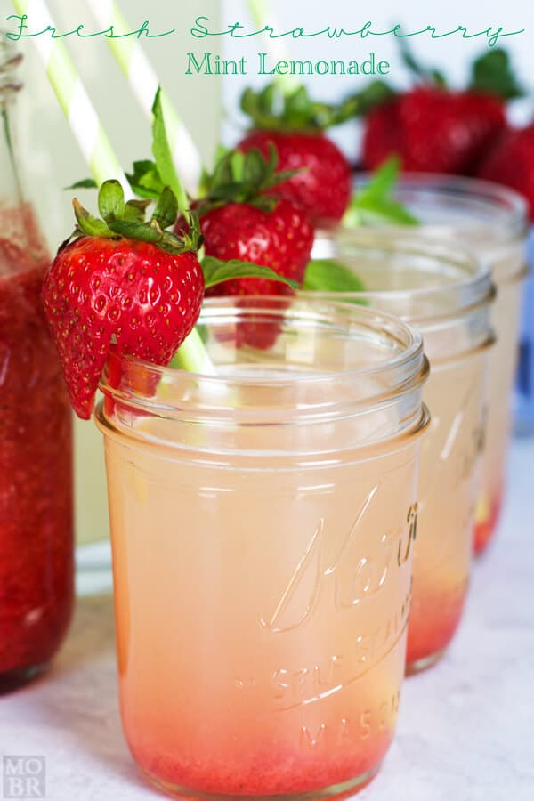 Fresh Strawberry Mint Lemonade from Embellishmints
