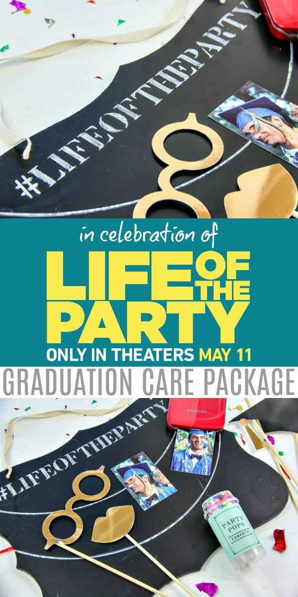 Fun DIY College Care Package To Celebrate Finals and the release of Melissa McCarthy's new movie Life of the Party in theaters May 11 #ad #LifeOfTheParty