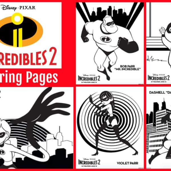 """Incredibles 2"" Printables – Coloring Sheets, Recipes and Activity Sheets"