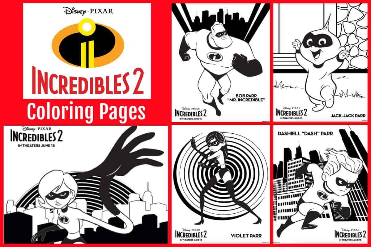 quot Incredibles 2 quot Printables Coloring Sheets Recipes and