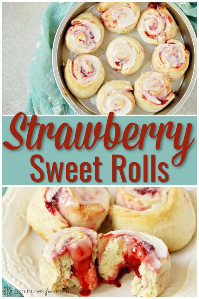 Strawberry Sweet Rolls - Easy Dessert Recipe #strawberry #sweetrolls
