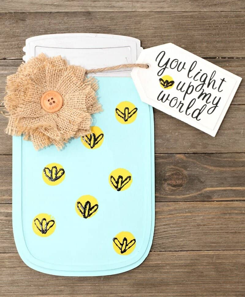 Wooden Mason Jar Craft - DIY Card