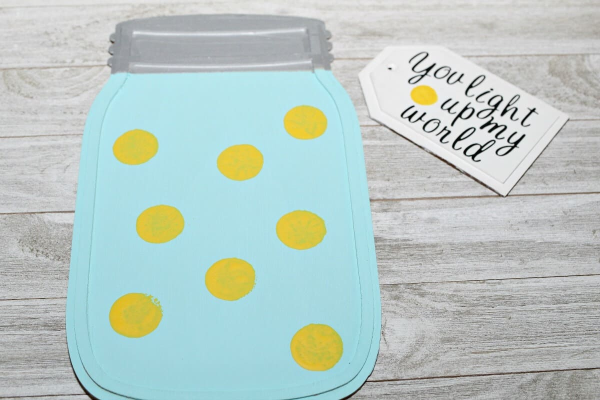 Wooden Mason Jar Craft - Handmade Card - Step 3